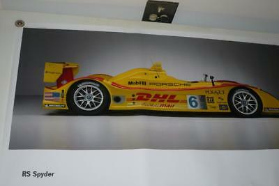 Porsche Spyder Race Car Advertising 2005 Poster Printed in Germany