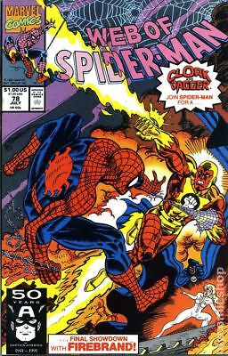 Web of Spider-Man (1st Series) #78 1991 VG Stock Image Low Grade