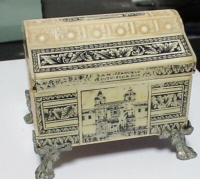 Rare Hand Carved Mexican Folk Art Prison Box