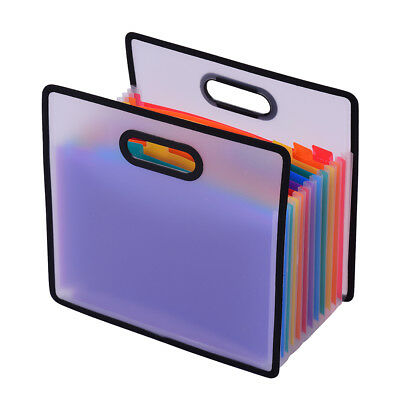 Accordian Expanding File 12 Pocket A4 Folder Cabinet Stud Wallet Case Organizer
