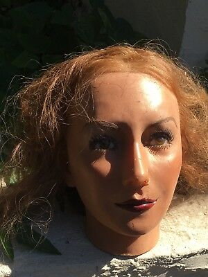 VINTAGE WAX HEAD w/human hair, life like and in good condition. Great price!