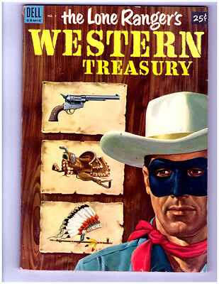 The LONE RANGERS WESTERN TREASURY #1 in FN/VF  a 1953 DELL Golden Age comic