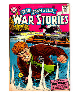 STAR SPANGLED WAR STORIES #61 in FN/VF condition 1957 DC Golden Age WAR comic