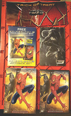 Spider-Man 3 (DVD, 2007) Best Buy Trick or Treat Bag + Postcards