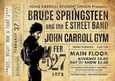 Bruce Springsteen Poster Fridge Magnet