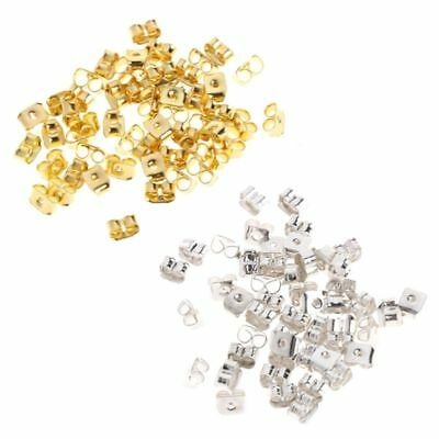 50 Pcs/Set Metal Earrings Plugs Clutch Back Ear Stud Pad Safety Tool Accessories