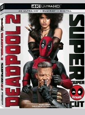 Deadpool 2 w/Slipcover (4K Ultra HD, Blu-Ray,  2018)like new no digital