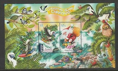 CHRISTMAS Island 2018 - Christmas with Santa and Wildlife Surfing MINISHEET MNH