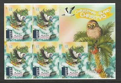 CHRISTMAS Island 2018 - Christmas Santa & Wildlife Surfing S/A Sheet of 5 x $2