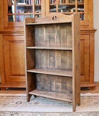 Solid oak edwardian arts and crafts open shelves / bookcase project