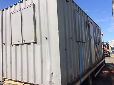 site office shipping container bait cabin