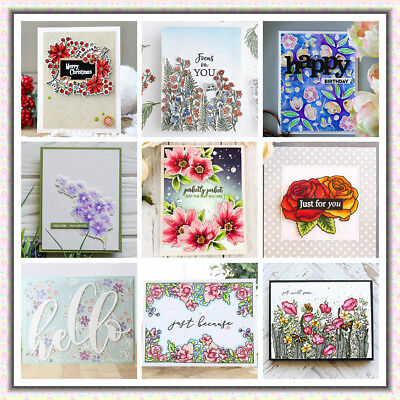 Transparent Clear Silicone Rubber Stamp Flower DIY Scrapbooking Card Crafts