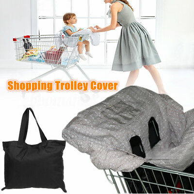 AU Foldable Baby Shopping Trolley Cover Cart Seat Cushion High Chair Protector