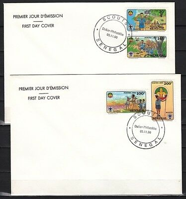 Senegal, Scott cat. 897-900. Scouting issue on 2 First day covers