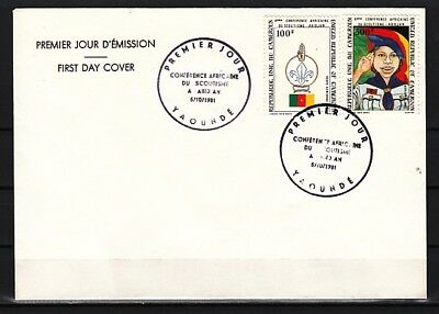Cameroon, Scott cat. C293-C294. 4th Scout Conference. Plain First Day Cover