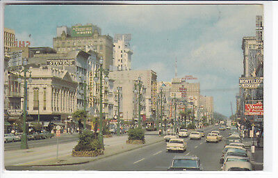 New Orleans Louisiana LA Postcard 1970 Canal Street General View