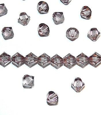 SCB5109 Antique Pink 6mm Faceted Xilion Bicone Swarovski Crystal Beads 24pc