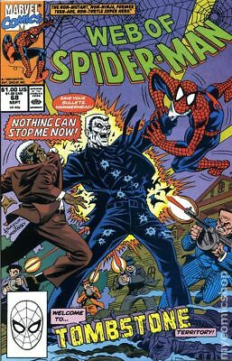 Web of Spider-Man (1st Series) #68 1990 VG Stock Image Low Grade