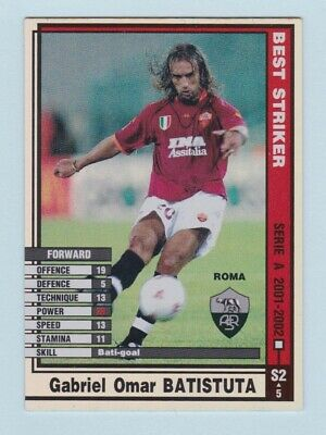 Football Trade Card - WCCF Serie A 2001-2002 (Panini) - Select a Card