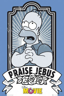 Poster The SIMPSONS - Movie Homer Praise Jebus  56372