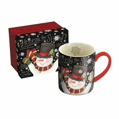 Chalkboard Snowman 14 Oz Mug, Journals and Housewares by Lang Companies