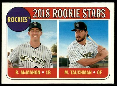 2018 Topps Heritage Baseball Card 117 Mike Tauchman Rc Ryan Mcmahon Rc