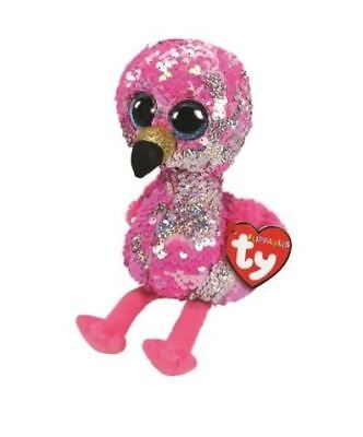 Ty Flippables Beanie Babies Boos Rare Pinky Flamingo Plush Soft Toy New With Tag