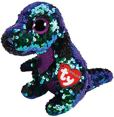 Ty Flippables Beanie Babies Boos Crunch Dinosaur Plush Soft Toy New With Tag