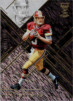 2016 Elite Black Washington Redskins Football Card  85 Kirk Cousins  199 409612e0c3f