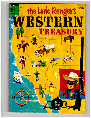 The LONE RANGERS WESTERN TREASURY #2 in FN/VF  a 1954 DELL Golden Age comic