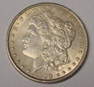USA. 1900 Plain Morgan silver dollar. Near EF/EF.