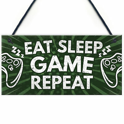 Gaming Gamer Accessories Boys Bedroom Man Cave Door Sign Birthday Gift For Him