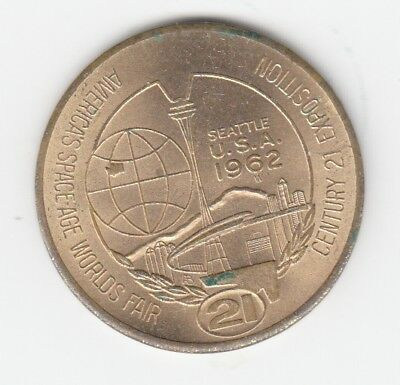 USA  Seattle  1 Dollar    -    Space - Age World Fair 1962