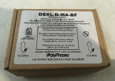 DSXL-D-MA-BF In-Line EMP Surge Filter with Flange Bracket 800MHZ to 2.3GHz