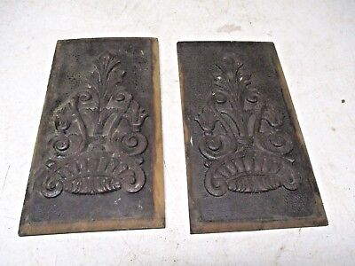 2 Old Wood Cupboard Door Panel Inserts with Gingerbread