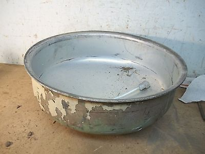 Old Stainless Steel Cream Separator Bowl for  Garden Planter Flower Pot