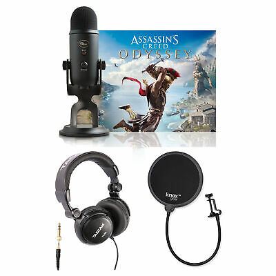 Blue Microphones Yeti Mic (Blackout) with Assassin's Creed and Pop Filter Bundle