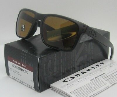 2522327d45 OAKLEY matte black bronze POLARIZED HOLBROOK OO9102-98 sunglasses! NEW IN  BOX!