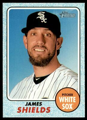 2017 Topps Heritage Blue #178 James Shields /50