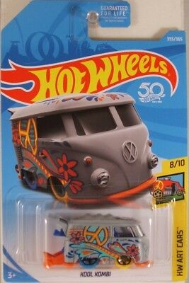 HOT WHEELS #2018-353 Kool Kombi VW (Volkswagen) Bus - Art Cars, 2018 iss. (NEW)