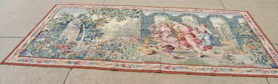 Fine Vintage Chinese Hand Woven Aubusson Weave Panoramic Renaissance Tapestry