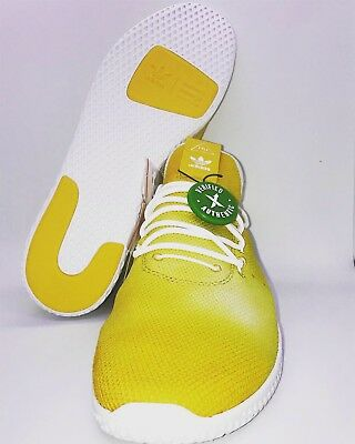 ca26c5e9fbf71 Adidas Mens PW HU HOLI Tennis HU Pharrell Williams Yellow White DA9617
