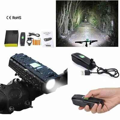 Road Bike Bicycle CREE XML T6 Front USB Rechargeable Head Light Waterproof Torch