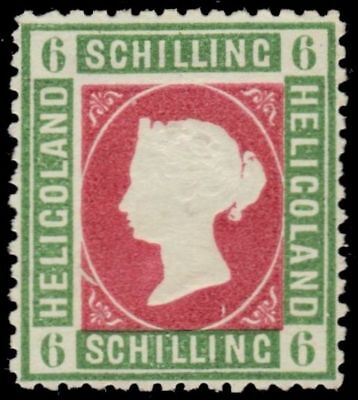 "HELIGOLAND 4F (SG4f) - Queen Victoria ""Perforated Forgery"" (pf94525)"
