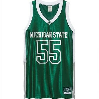 best authentic 3ad46 ce0e3 VICTORIA'S SECRET PINK Michigan State University Spartans Basketball Jersey  - XS