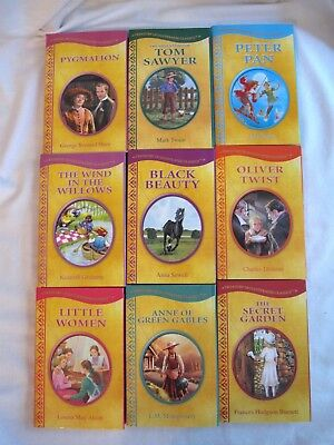 Lot of 9 Treasury of Illustrated Classics Hardcover