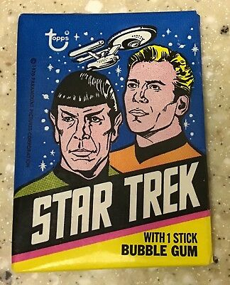 1976 Topps STAR TREK Unopened Wax Pack