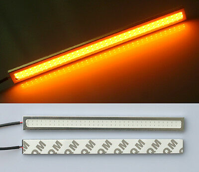 2x Amber/Yellow Waterproof LED Daytime Running Light DRL COB Strip Lamp Fog 17cm