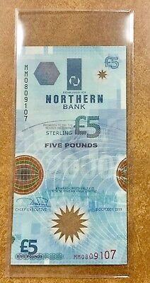 NORTHERN IRELAND P-203a  5 Pounds 1999 POLYMER  NORTHERN BANK Space Shuttle