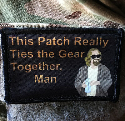 "Big Lebowski Movie ""Pee Rug"" The Dude Morale Patch Tactical ARMY Funny Military"